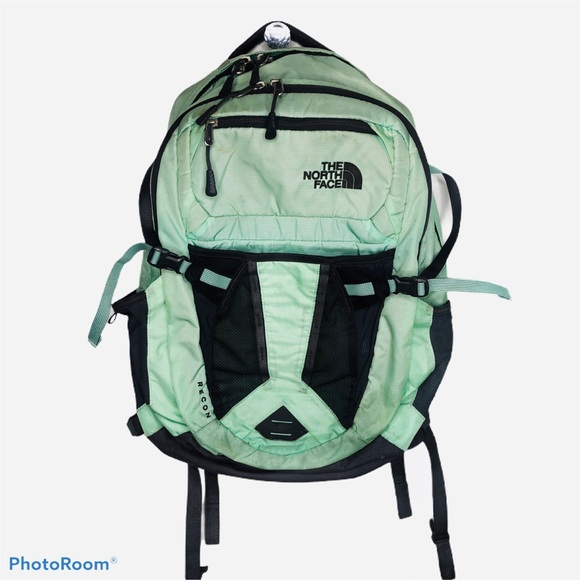 North Face Recon Backpack Laptop Mint Green Bag